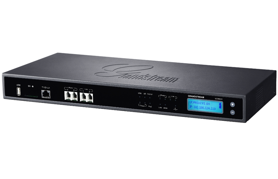 Grandstream IP PBX Appliance, Up To 2000 SIP Endpoint Registrations, 200  Calls, 64 Attend