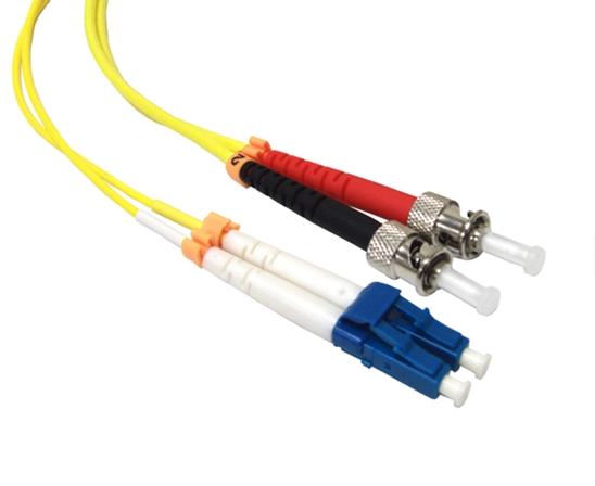 Fiber Patch Cord 15 Meter LC//ST Duplex Single Mode 9//125 Fiber Cable 2856