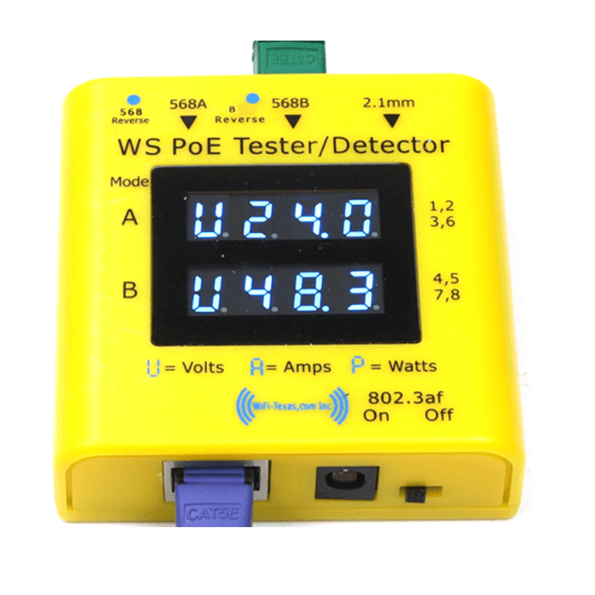 WiFi Texas POE Tester and Detector